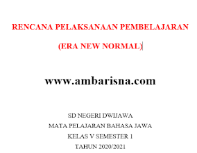 Download RPP 1 Lembar Bahasa Jawa Kelas 5 SD