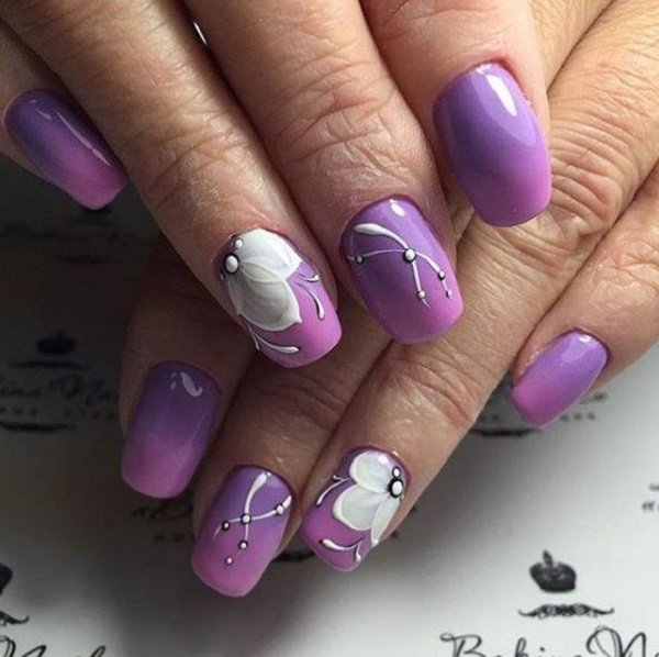 Nail Polish Designs Purple Papillon Day Spa