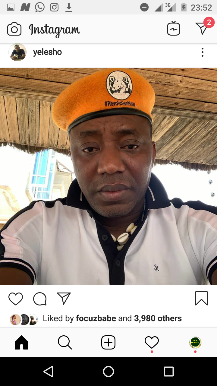 Sowore Allegedly Said FG Want to Inject Coronavirus To Him Over This Report On Abba Kyari