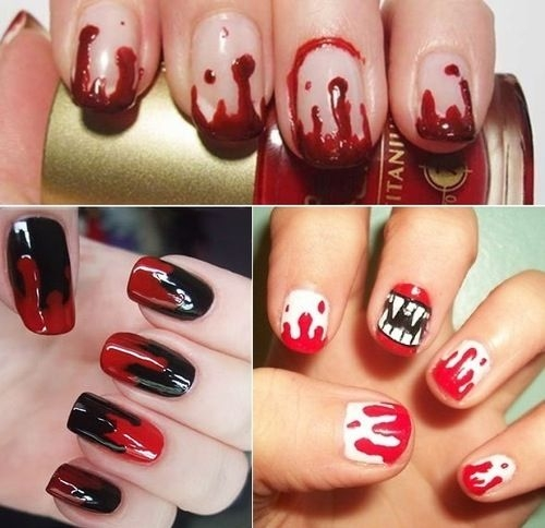 So, baby it's the adapted time to analyze the afterward photo arcade for  accepting best Emo attach art ... - Latest Emo Nail Art Designs Fashionte