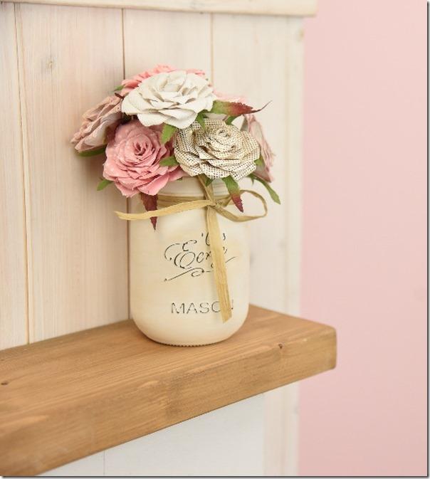 come fare un bouquet di fiori e il suo vaso Shabby Chic