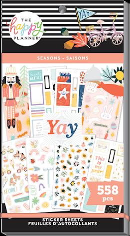 Me & My Big Ideas Happy Planner Stickers Value Pack - Seasons 558