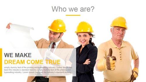 Plantilla PowerPoint para empresa de construcción y reformas