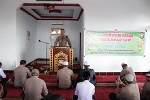 Keluarga Besar Polres Soppeng Peringati Maulid Nabi Muhammad SAW 1443 H