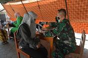 Vaksinasi TNI Polri Sasar 400 Santri  Ponpes Al Huda Doglo