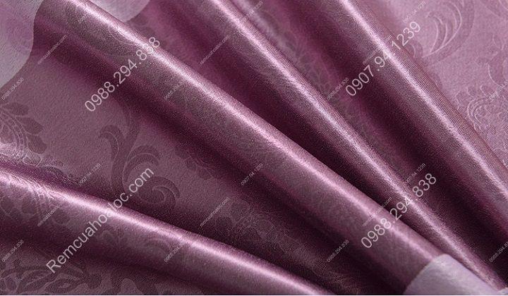 Rèm cửa cao cấp đẹp một màu tím diềm 12