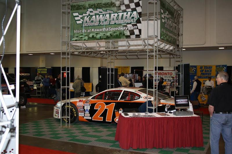 Kawartha Downs Speedway booth.