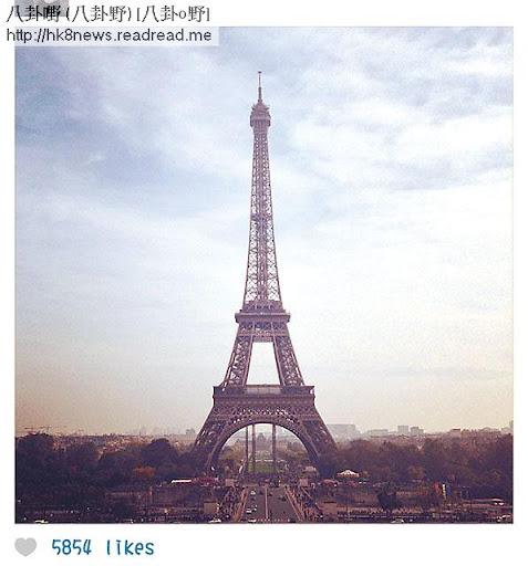 軒仔其後亦上載巴黎鐵塔嘅相,明顯同 Kenny一樣身處法國。