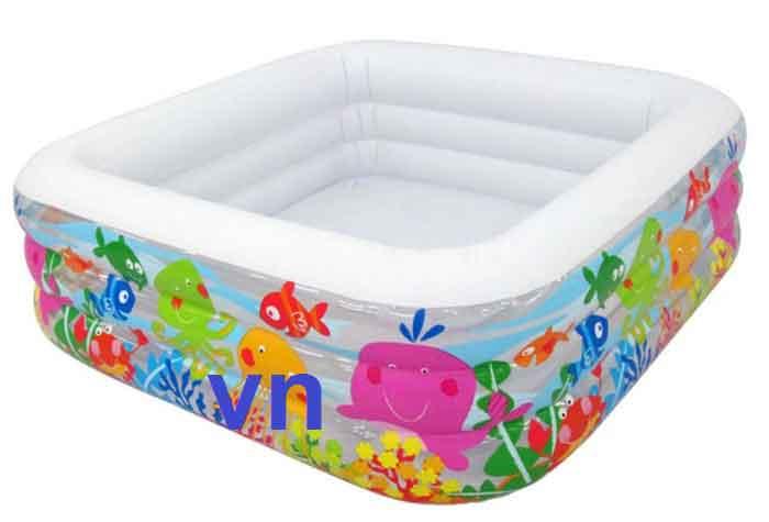 Bể phao bơi em bé intex hình vuông 57471.