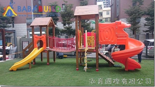 國際蒙特梭利竹北幼兒園 Babybuild檜木遊具