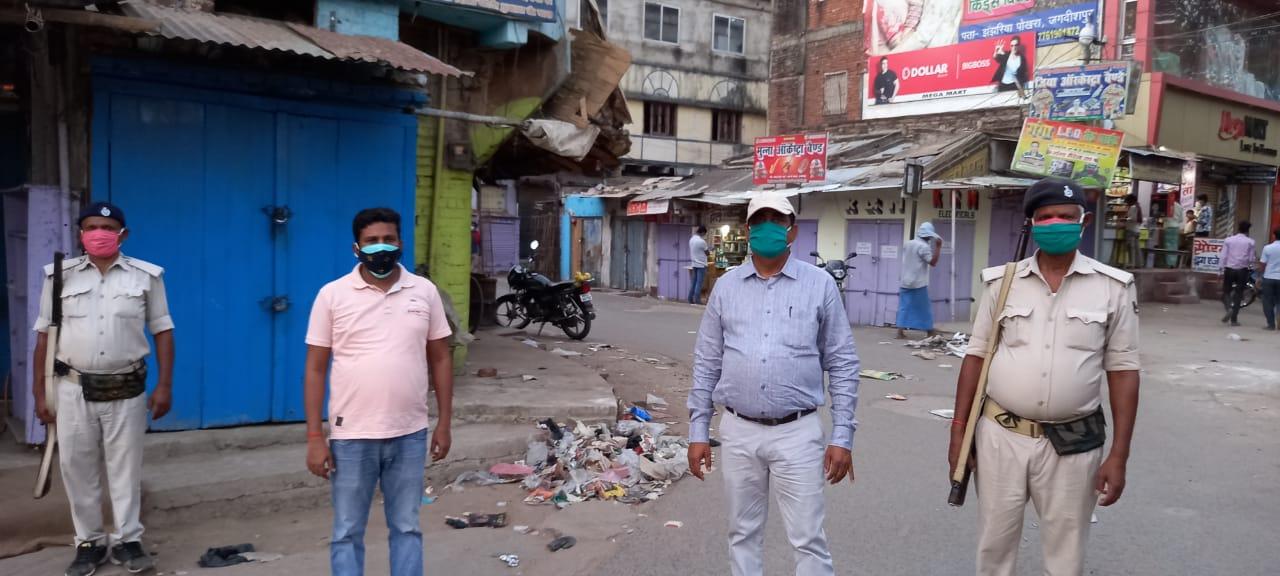 लॉकडाउन:  पांचवे दिन भी अधिकारी की सख्ती से सुनी पड़ी रही सड़़कें