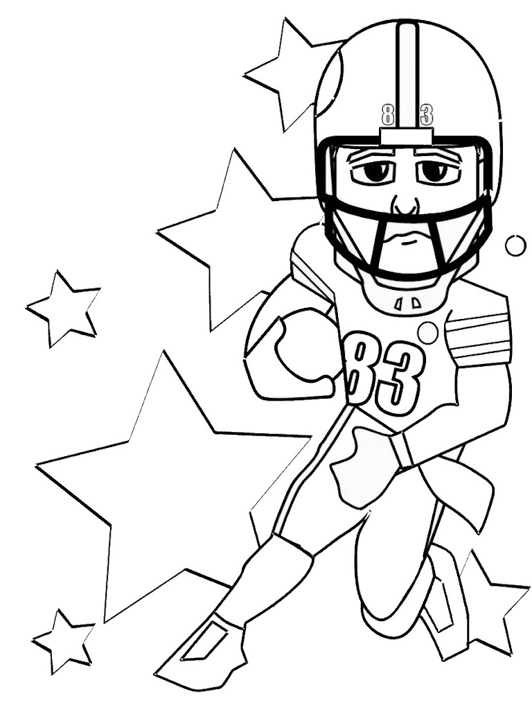 Football Jersey Free Coloring Pages