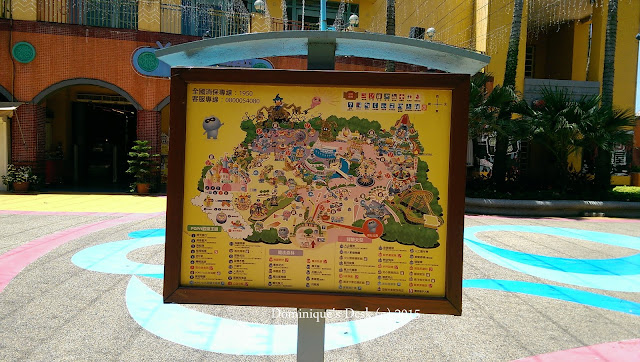 The sign board showing all the rides in the park