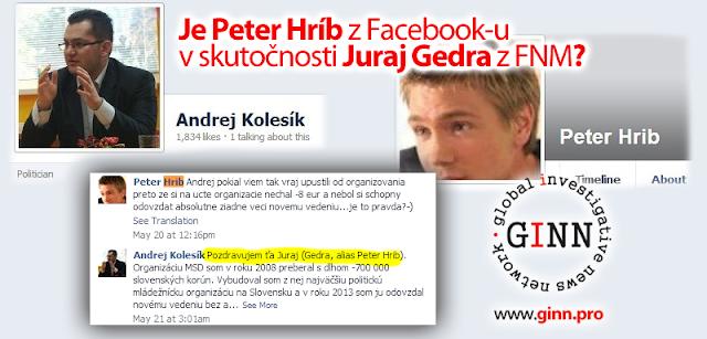Je Peter Hríb v skutočnosti Juraj Gedra z FNM?