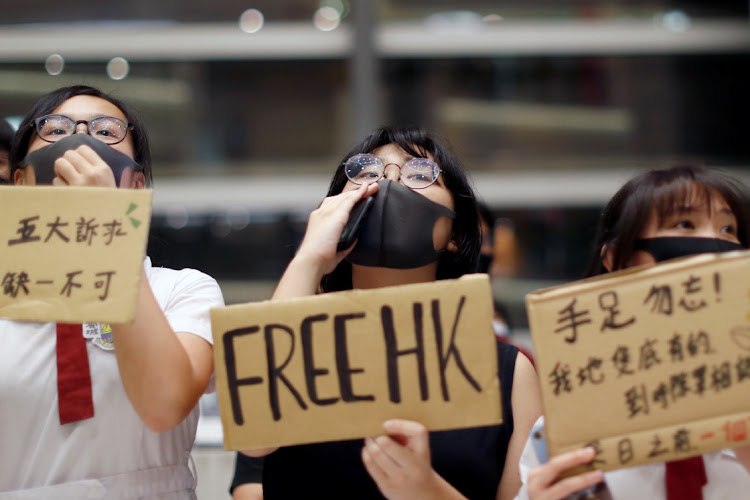 Anti-government students gather for protests after school in Lok Fu, Hong Kong, September 23 2019. Picture: REUTERS/JORGE SILVA