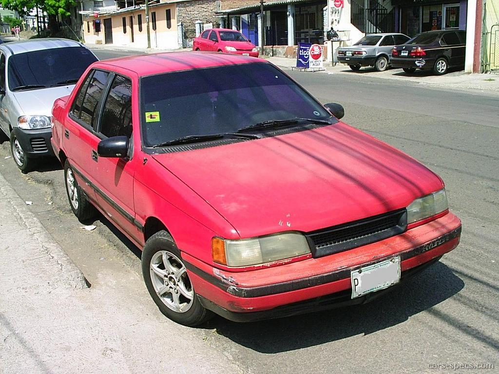 1990 hyundai excel sedan specifications pictures prices for Garage hyundai 91