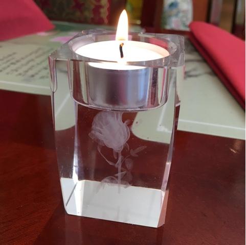 Kerze im Restaurant