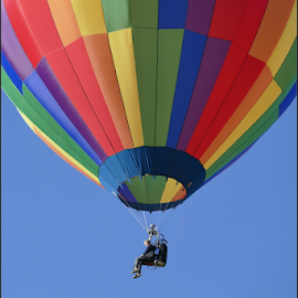 Between Two Baloons by Gwen Paton - Transportation Other ( hot air balloon, steamboat springs, coloradao,  )