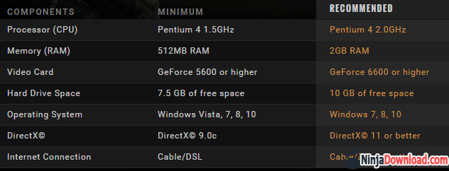Crossfire game system requirements