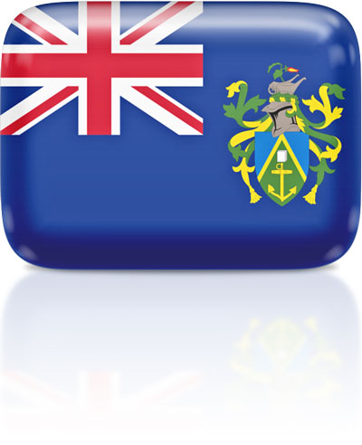 Pitcairn Island flag clipart rectangular