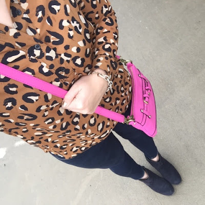 leopard shirt, how to wear ankle boots