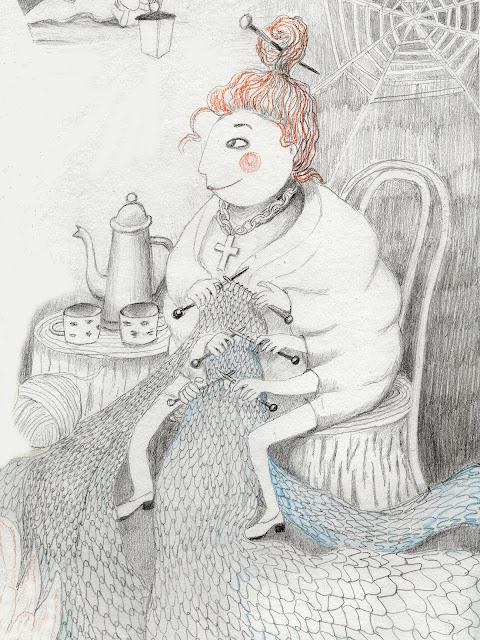 Haapsalu ämblik pits illustratsioon Aide Leit-Lepmets