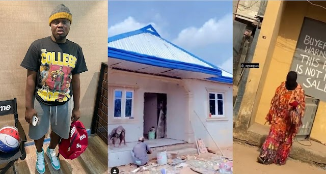 """""""This time last year I was homeless"""" – Popular Nigerian Comic Masquerade, Kuye Adegoke, writes as he finally Builds himself A House (Video)"""