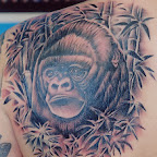 bamboo gorilla back - tattoos ideas