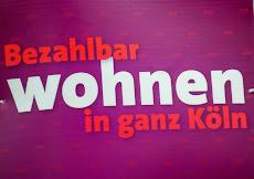 Wahlplakat: »Bezahlbar wohnen in ganz Köln«.