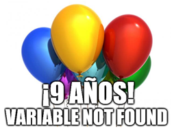 9 años de variable not found