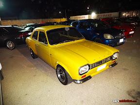 Yellow Ford Escort