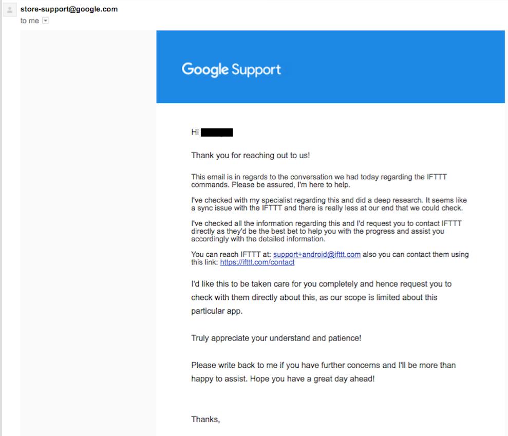 Google Home stuck on deleted IFTTT recipe - Google Nest Help