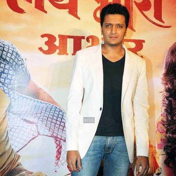 Riteish Deshmukh clicked during the success meet of Marathi movie Lai Bhaari, held at Orchid, on July 14, 2014.(Pic: Viral Bhayani)