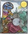 Woodcut On Title Page Of Messahalah De Scientia Motus Orbis Nuremberg