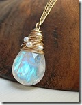 Sarah Hickey moonstone necklace with freshwater pearls