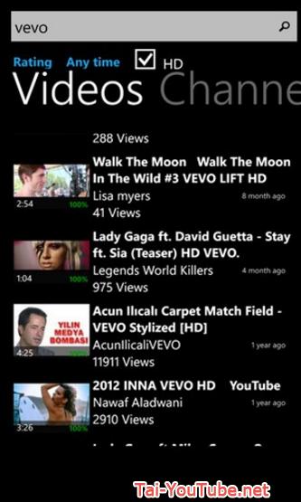 Tải ứng dụng xem tivi free - Youtube HD cho Windows phone + Hình 4