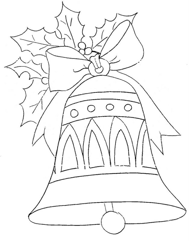 Christmas bell coloring pages