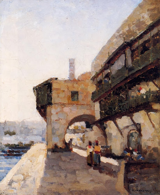 Albert Lebourg - The Quay de l'Amiraute in Algiers