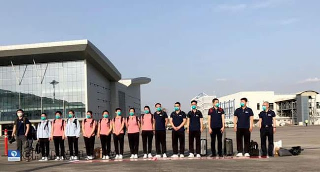 BREAKING: 15 Medical Team From China  Arrives Nigeria (Photos)