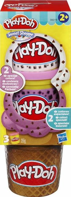 Bột nặn 3 màu làm kem Play-Doh Plus trắng tím rất an toàn đối với các em nhỏ