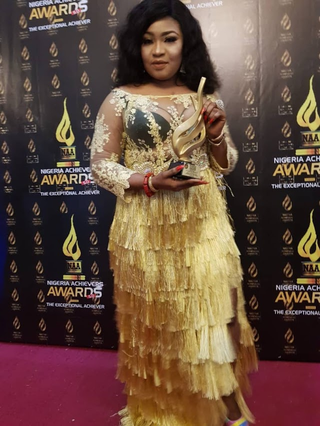 UK-Based Nollywood Actress,  Princess Elizabeth Onanuga Wins 'Best Supporting Actress ' Award
