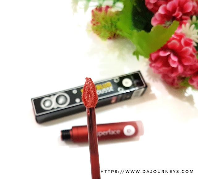 Review Superface Soft Blur Lip Mousse - Warm Brick