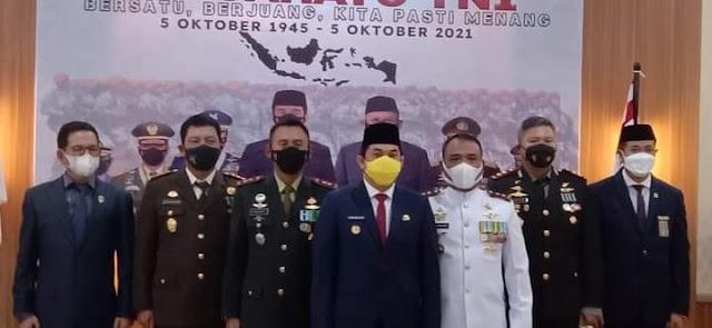 Wabup Kotabaru Hadiri Peringatan HUT TNI Nasional Virtual