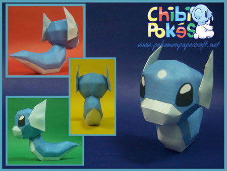 Chibi Dratini Papercraft