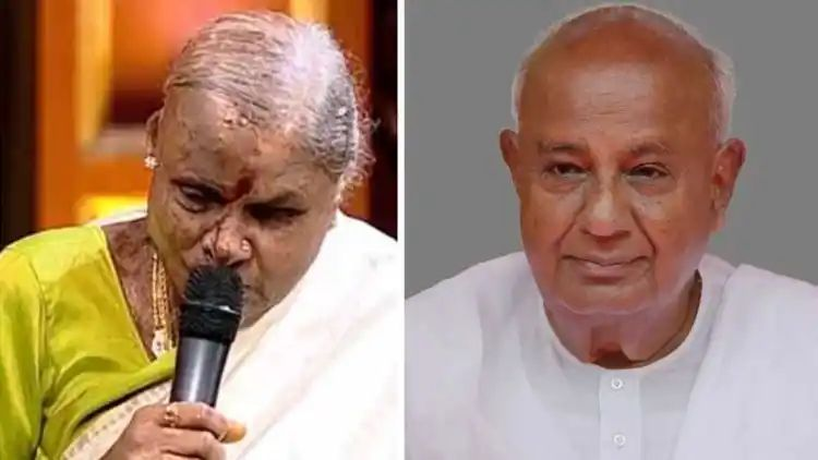 Former Prime Minister H.D. Deve Gowda and Channamma Coronal Infection