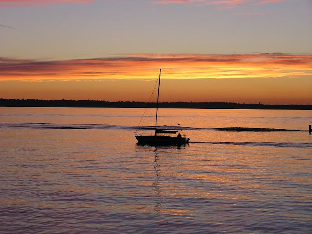 Whether you are on a boat, a walk, or just relaxing in a lawn chair, the picturesque sunsets over Bellingham Bay are not to be missed.Credit: Susan Banton