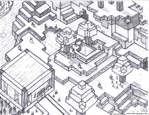 Minecraft World For Free Colouring Print Minecraft World For Free Coloring  Pages