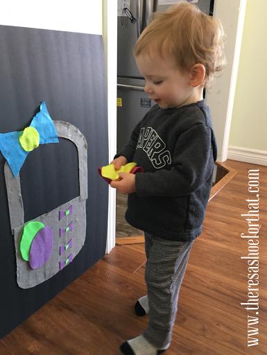 DIY felt egg game for toddlers