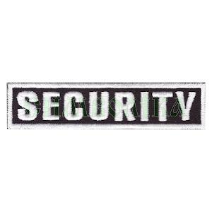 Security 85х20мм/ нагрудний напис/ вишитий/ чорно-білий