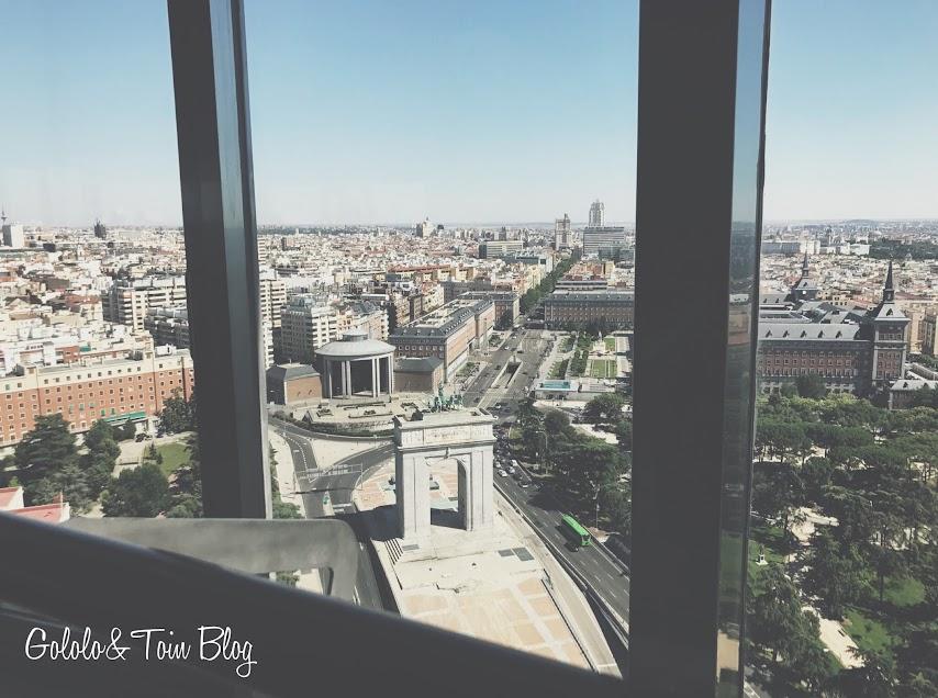 Vistas de Madrid desde el faro de Moncloa